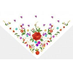 Pañuelo de tres picos modelo mariposas